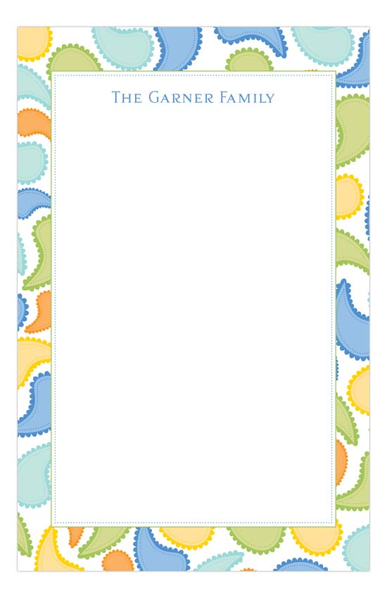Cool Paisley Notepad