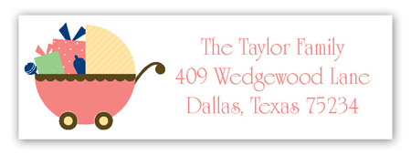 Coral Carriage Gifts Address Label