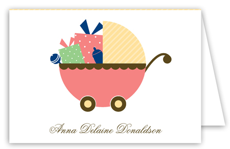 Coral Carriage Gifts Folded Note Card