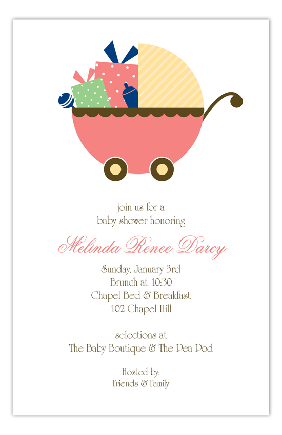 Coral Carriage Gifts Invitation