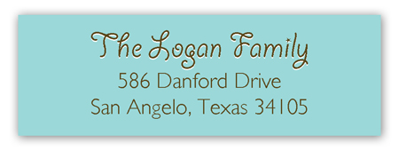 Country Supper Tabletop Address Label