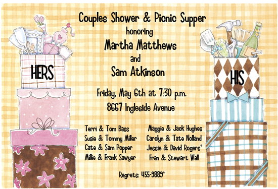 Yellow Patchwork His & Hers Couples Shower