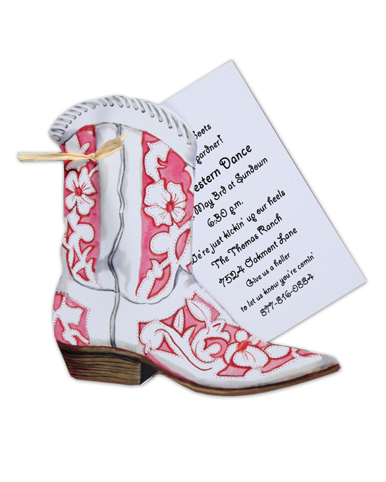 Cowgirl Boot Invitation