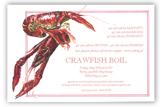 Crawdaddy Invitation