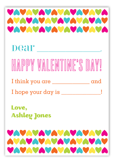 Create your own valentine card cute fill in valentines How to make a valentine card for your girlfriend