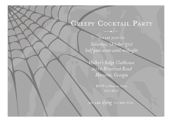Creepy Cobweb Invitation