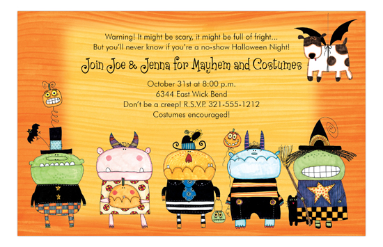 Creepy Little Monsters Invitation