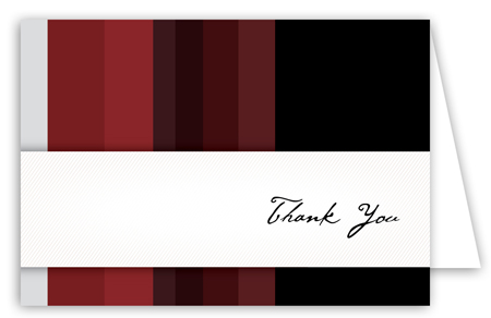 Crimson Stripes Note Card
