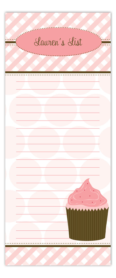 Cupcake Craving Notepad