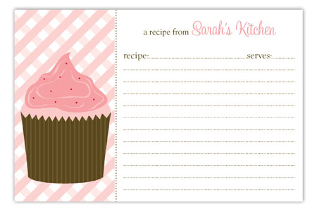 Cupcake Craving Recipe Card