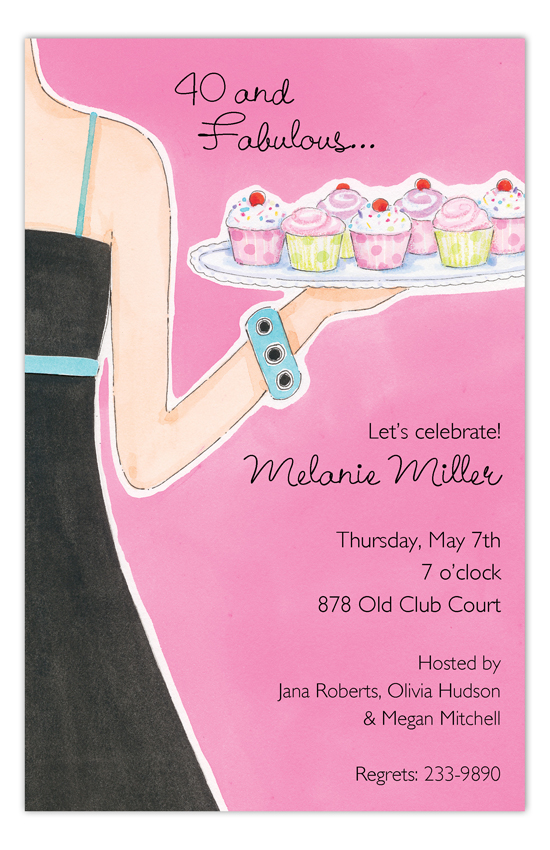 Cupcake Hostess Invitation