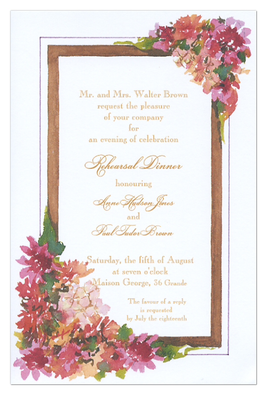 Dahlia and Dried Flowers Invitation