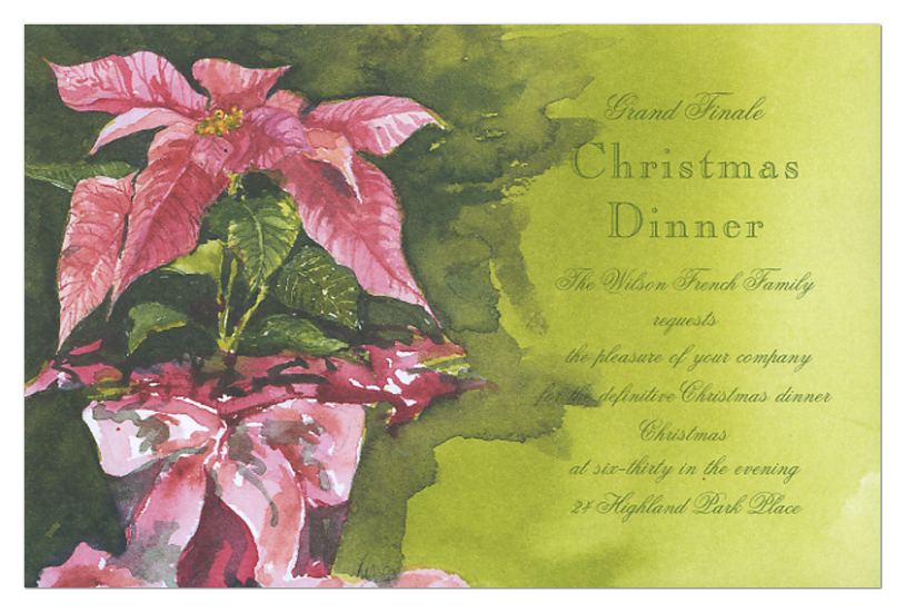 December Blooms Invitation