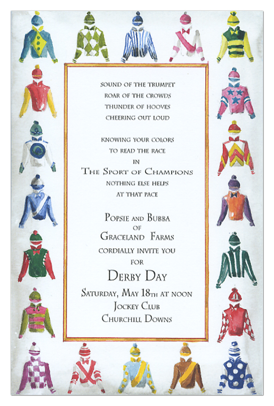 Derby Clothing Invitation Kentucky Derby partyinvitations