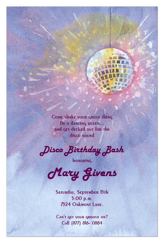 Disco Glitter Invitation