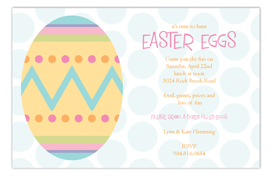 Easter Artwork Invitation