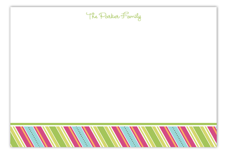 Easter Candy Stripes Flat Note Card