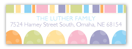 Easter Eggs Address Label