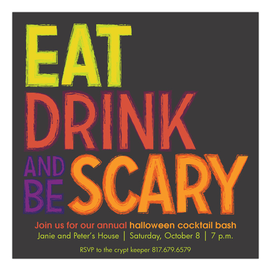 Eat, Drink and Be Scary Invitation