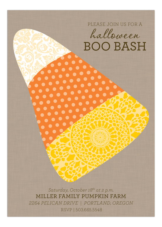 Eclectic Candy Corn Invitation