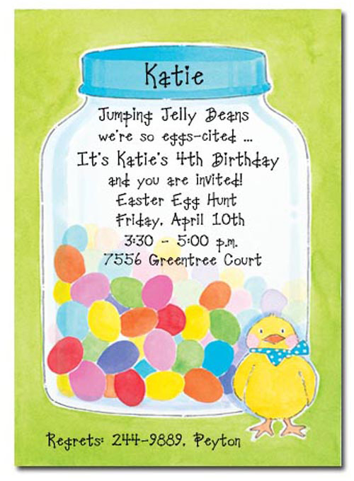 Eggcited Party Invitation