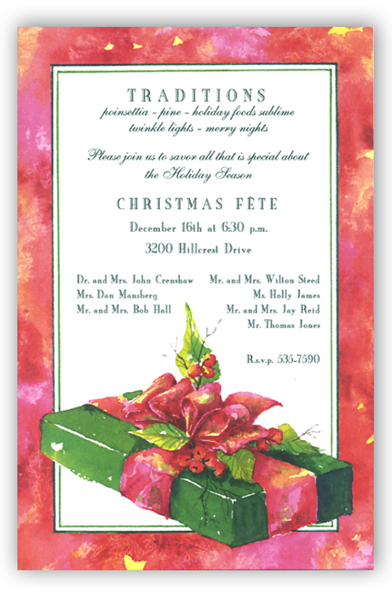 Emerald Gift Invitation