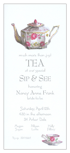 English Tea Invitation