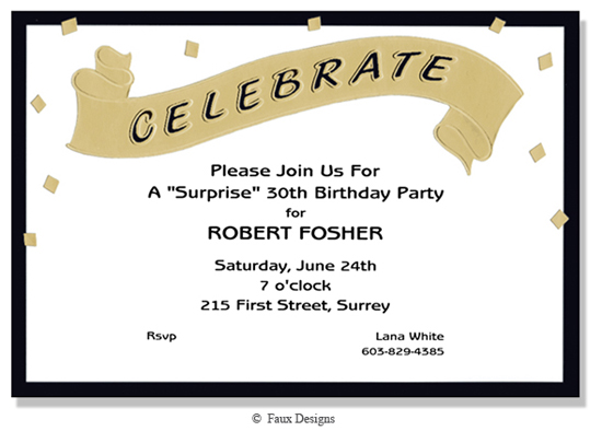 Events - Celebrate Banner Invitation