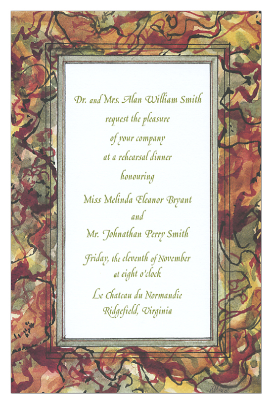 Fall Colors Invitation