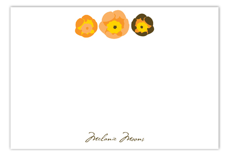 Fall Floral Flat Note Card