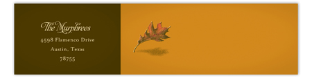 Fall Leaf Envelope Wrap Label