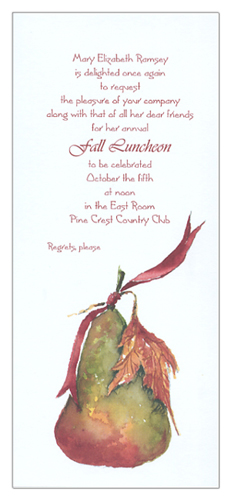 Fall Pear Invitation