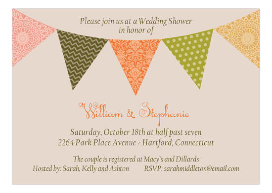 Fall Pennant Flag Invitation