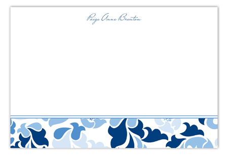 Fancy Fleur Flat Note Card