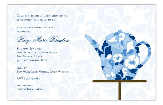 Fancy Fleur Kettle Invitation