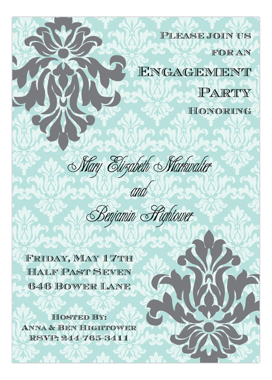 Fancy Flourish Tiffany Invitation