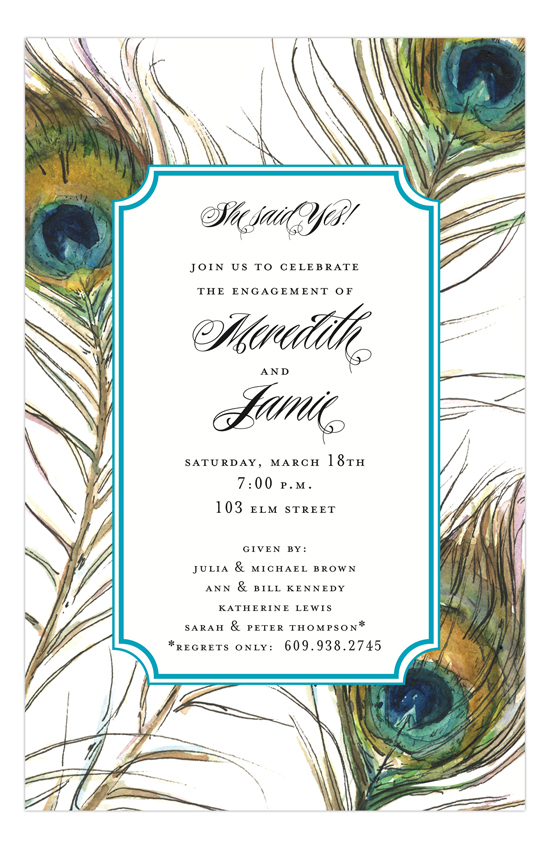 Feathers Invitation