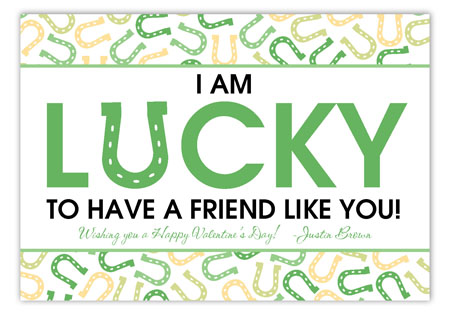 Feeling Lucky Valentine Card