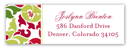 Festive Floral Address Label
