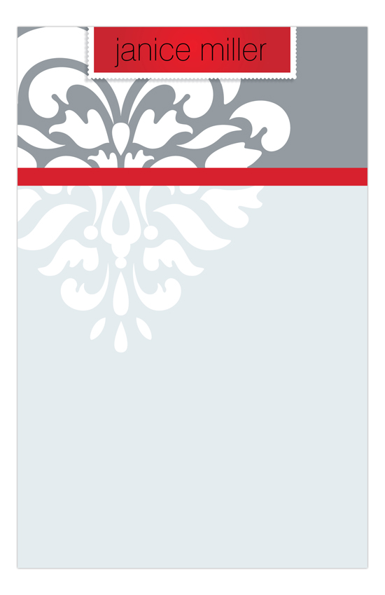 Festive Flourish Red Notepad