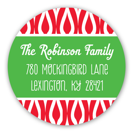 Festive Merry Christmas Banner Round Sticker