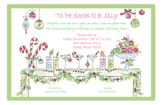 Festive Table Holiday Invitation