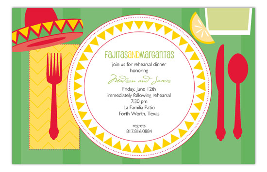Fiesta Tabletop Invitation