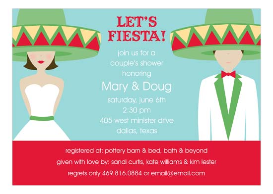 Fiesta Wedding Brunette Invitation