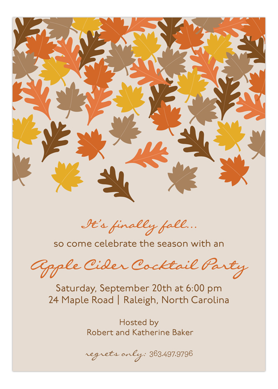 finally fall invitation