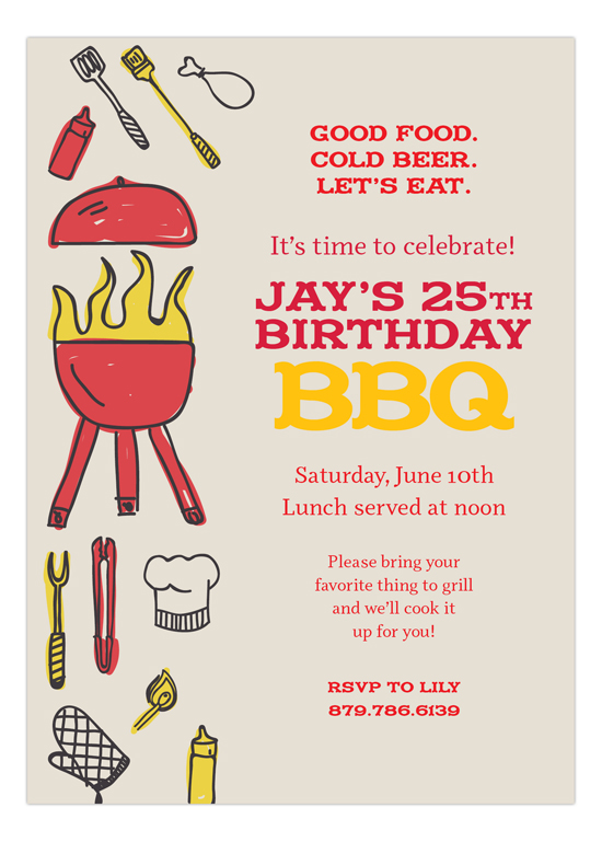 Fire Up the Grill Invitation