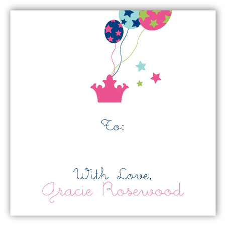First Birthday Castle Gift Tag