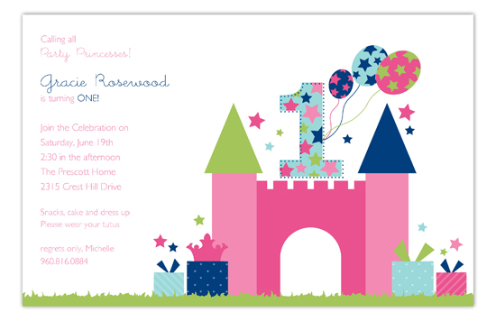 First Birthday Castle Invitation