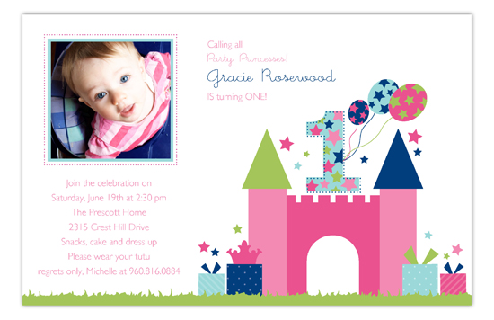 First Birthday Castle Photo Card