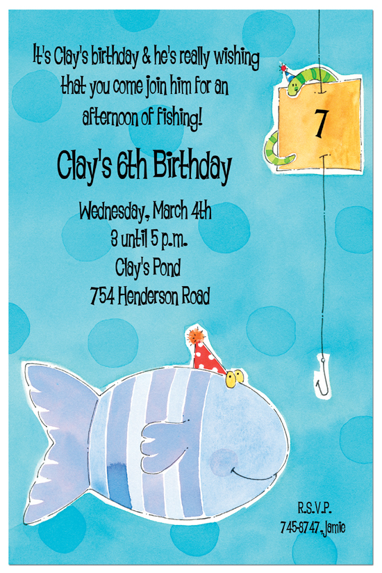 Fish Party Invitation